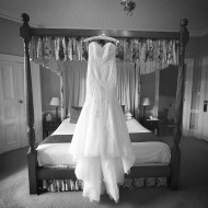 Wedding dress in the bridal suite at Eastbury Manor Kent